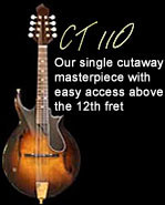 CT110: Our single cutaway masterpiece with easy access above the 12th fret